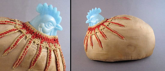 pin cushion from found materials