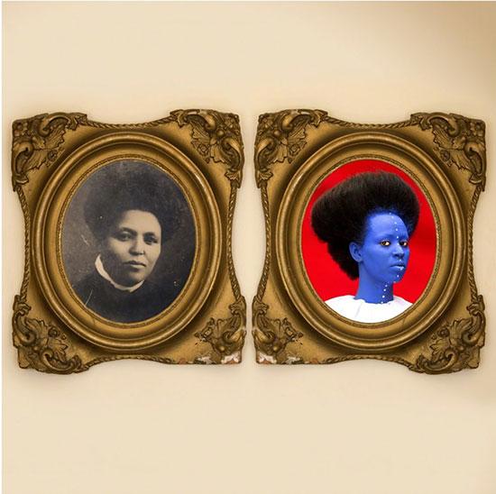 Aida Muluneh two part photographic portrait