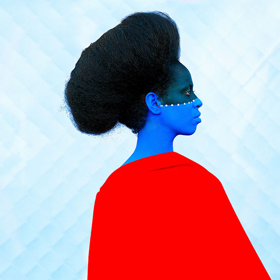 Aida Muluneh photographic portrait with blue face painting